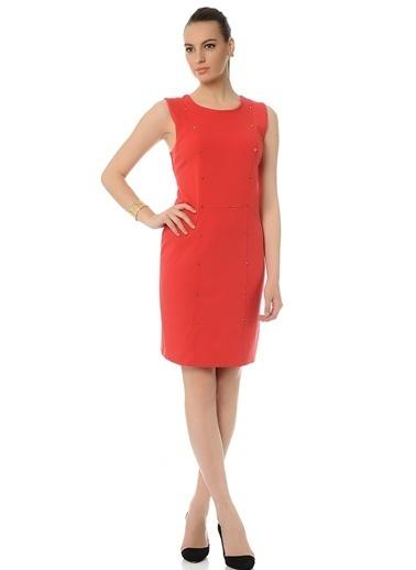 Limon Company Kolsuz Kısa Elbise Kırmızı